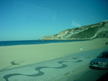 Beach from a bus window: NOT the way to be enjoyed